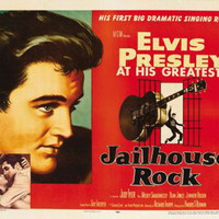 Jailhouse Rock Elvis Presley Vintage Movie Poster