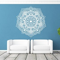 ik369 Wall Decal Sticker Room Decor Wall Art Mural mandala hamsa hand Buddha Hindu Hinduism India Ornament living room bedroom