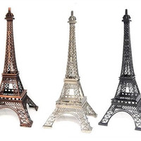 "15"" Metal Eiffel Tower Party Statue Decoration, Centerpiece 15"" Paris Theme"