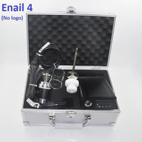 Enail Dnail IV 4 Kit Digital PID Vaporizer WAX Dry Herb E Cigarettes Vaporizer Pen 2015 New fit for With Glass Bongs Water Pipe