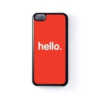 Hello Black Hard Plastic Case for Apple iPhone 5C by textGuy