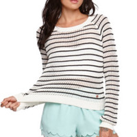 Kendall and Kylie Striped Cropped Pullover Sweater at PacSun.com