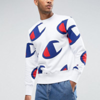 CHAMPION Fashion Casual Long Sleeve Drawstring Top Sweater Sweatshirt