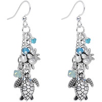 Salty Sea Creatures Dangle Earrings Created with Swarovski Crystals | Body Candy Body Jewelry