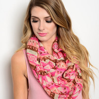 Tribal Print Infinity Scarf (2 Colors)