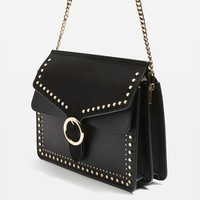 Peony Studded Shoulder Bag - Bags & Purses - Bags & Accessories