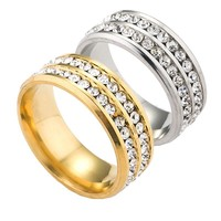 Shiny New Arrival Stylish Jewelry Gift Korean Accessory Titanium Diamonds Luxury Stainless Steel Ring [10059714179]