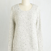 Mid-length Long Sleeve Cozy Is As Cozy Does Sweater