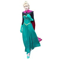 EZcosplay Frozen Elsa Snow Queen Disney Coronation Dress Deluxe Cosplay Costume