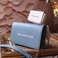 BALENCIAGA 2018 FASHION SHOW LEATHER INCLINED CHAIN SHOULDER BAG