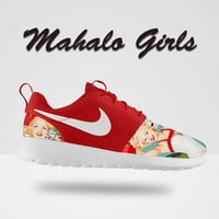 Custom Nike Roshe Run, Mahalo Nike Roshe Run, Red Nike Roshe Run, Roshe, Roshe Run, Island Girl Nike Roshe Run, Hawaii