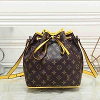 Louis Vuitton Women Leather Shoulder Bag Handbag Backpack