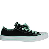 Converse Chuck Taylor Double Tongue Black/Peppermint Ox Trainers - Buy Online at Grindstore.com