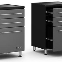 "Ulti MATE Garage - 3-Drawer Base Cabinet (Graphite/Black) (35""H x 23.50""W x 21""D)"