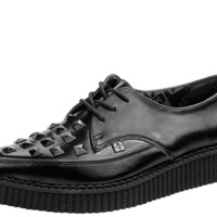 Black Studded Pointed Creepers