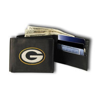 Green Bay Packers Embroidered Billfold Wallet