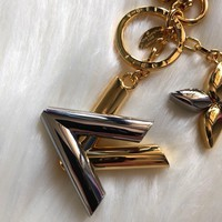 KUYOU LOUIS VUITTON M68197 all steel key ring LV