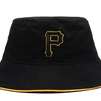 Pittsburgh Pirates Full Leather Bucket Hats Black