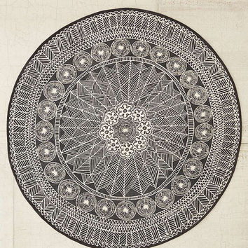 Florisse Printed Round Rug | Urban Outfitters