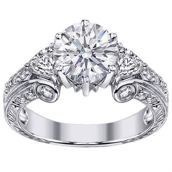 Vintage Style Diamond Engagement Ring - ES290WG
