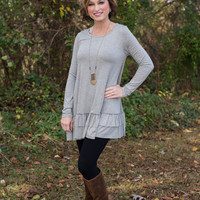 Just Simply Me Tunic - Gray