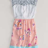 AEO Women's Lace And Floral Dress