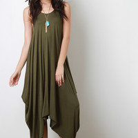 Sleeveless Drape Maxi Dress