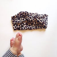 Leopard Turban Headband : Newborn - Adult