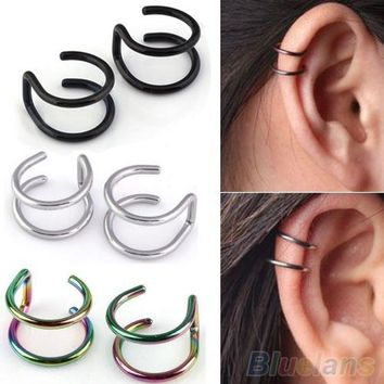Clip-on Earrings Non-piercing Cartilage Cuff Eardrop steel Ear Clip