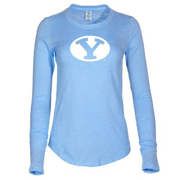 NCAA Brigham Young Cougars - RYLBYU06 Women's Long Sleeve Slub Tee Shirt