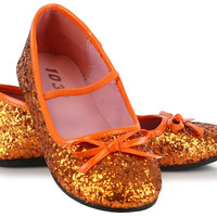 Orange Sparkle Ballet Flat Child Shoes