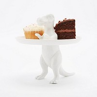 Dinosaur Cake Stand in White - Urban Outfitters