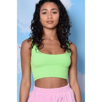 Limeade Fitted Double Layer Crop