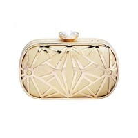 Vintage Wedding Party Bags Women Diamond Evening Clutches Bridal Gold Wedding Party Chain Hand Bag Dinner Purse bolso New
