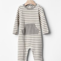 Gap Baby Organic Velour Stripe Footed One Piece