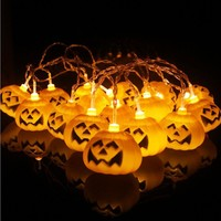 ISHOWTIENDA Halloween Party Ghost festival Pumpkin LED Battery lantern string Decoration dropship 2018