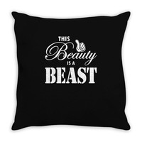 This Beauty is a Beast Throw Pillow