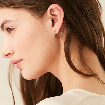 Seoul Little X UO 18k Gold Large Hoop Earring   Urban Outfitters