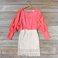Lace and Quartz Dress in Pink