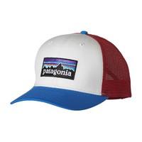 Patagonia P-6 Trucker Hat | White w/Andes Blue