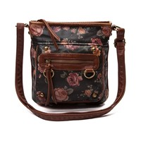 Womens Floral Crossbody Handbag
