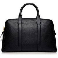 BUCKLEY LEATHER FLAT TRAPEZE BRIEFCASE