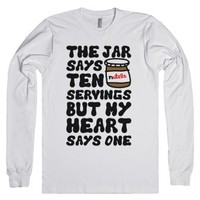 Nutella Servings Of The Heart-Unisex White T-Shirt