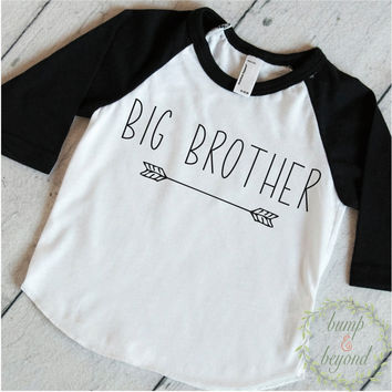 Big Brother Shirt Hipster Big Brother Gift Big Brother Little Brother Announcement Shirt Modern Arrow Big Brother Outfit 129