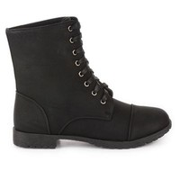 Lilley Womens Plain Black Military Ankle Boot | Shoe Zone