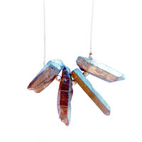 Designer ICE - Silver Crystal Statement Necklace