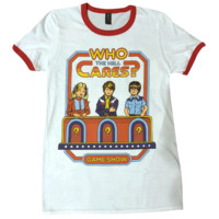 Who Cares? Ringer Shirt
