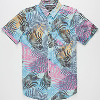 Straight Faded Paradise Mens Shirt Blue  In Sizes