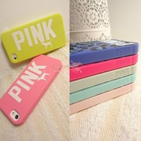 Victoria's Secret PINK Leopard Skull Silicone Soft Rubber Case For iPhone 5S 5