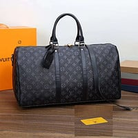 Louis Vuitton LV Luggage Bag Travel Bag Fashion Big Bag Print Tote Handbag